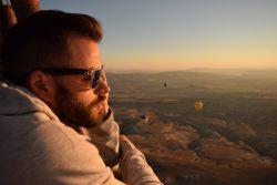Enrico in Cappadocia sulla mongolfiera