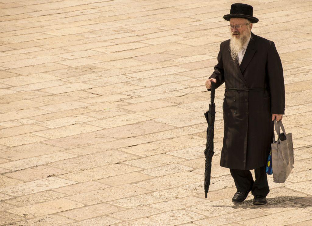 Anziano ebreo a Gerusalemme