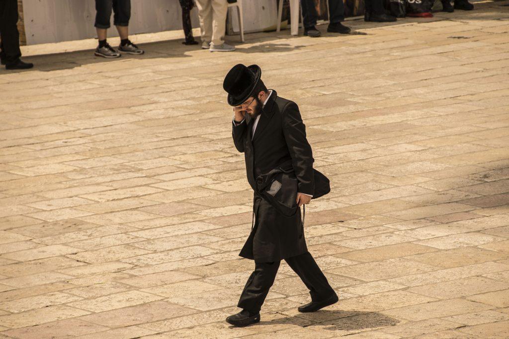 Ebreo ortodosso a Gerusalemme