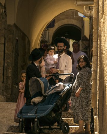 Famiglia quartiere ebraico Gerusalemme