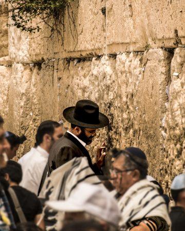 Muro del pianto - dettaglio dei fedeli