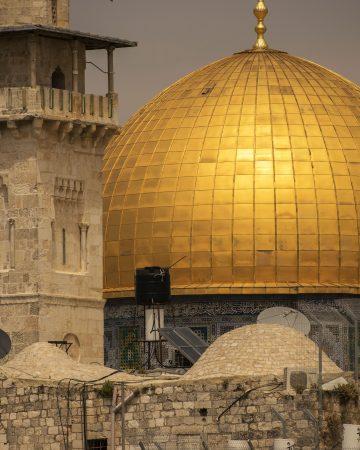 Particolare della cupola Gerusalemme risplendente al sole