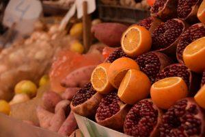 Souk Tel Aviv - Carmel Market le arance e i melograni per le spremute freschissime