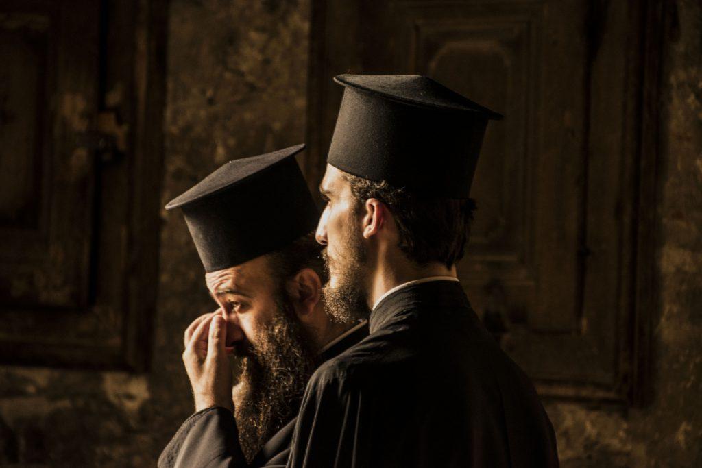 Studiosi ortodossi nella città vecchia di Gerusalemme