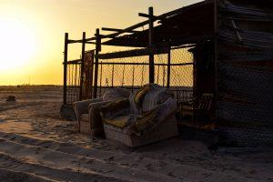 Casa del pescatore sulla spiaggia in Oman vicino a Sur