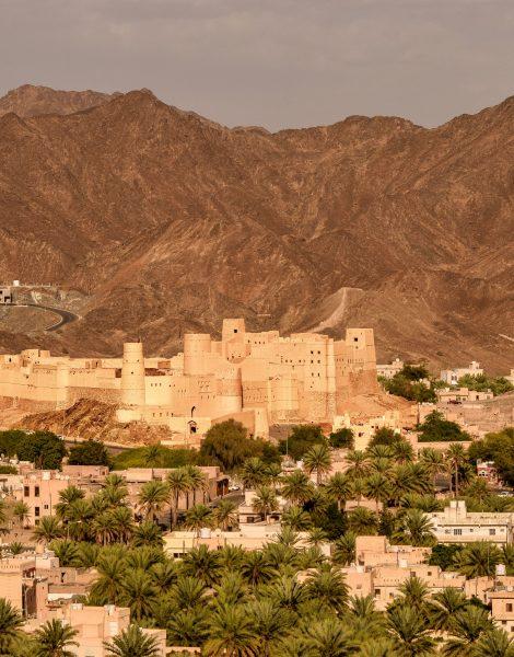 Vista del forte di Bahla in Oman