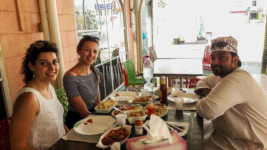 Pranzo con Adil a base di pesce appena pescato