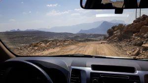 Sulle strade sterrate della Jabal Akhdar in Oman