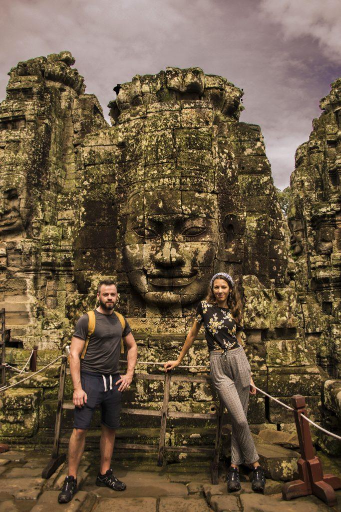 Visitare Angkor: facce del Bayon