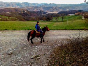 Io a cavallo con Bionda a Le Carovane