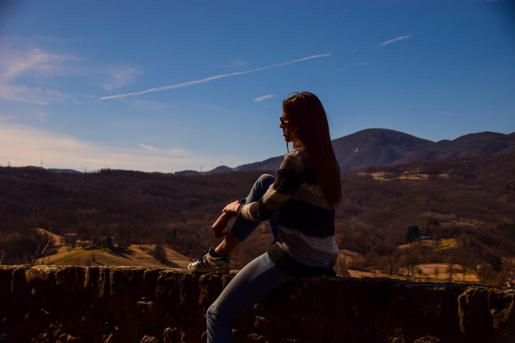 Io che mi rilasso ammirando la vista dalle mura