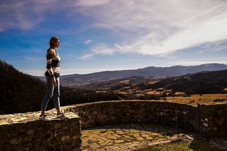 Sulle torri del castello di Compiano