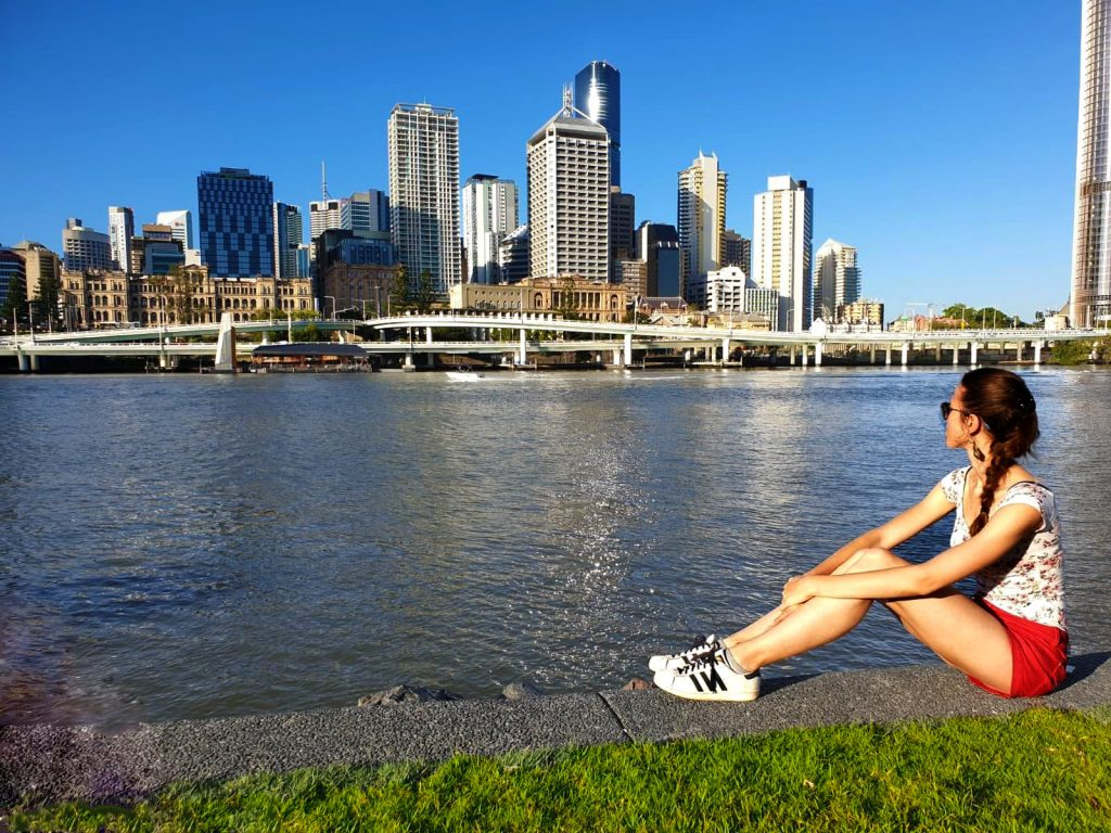 Valentina a Brisbane vista da South Bank