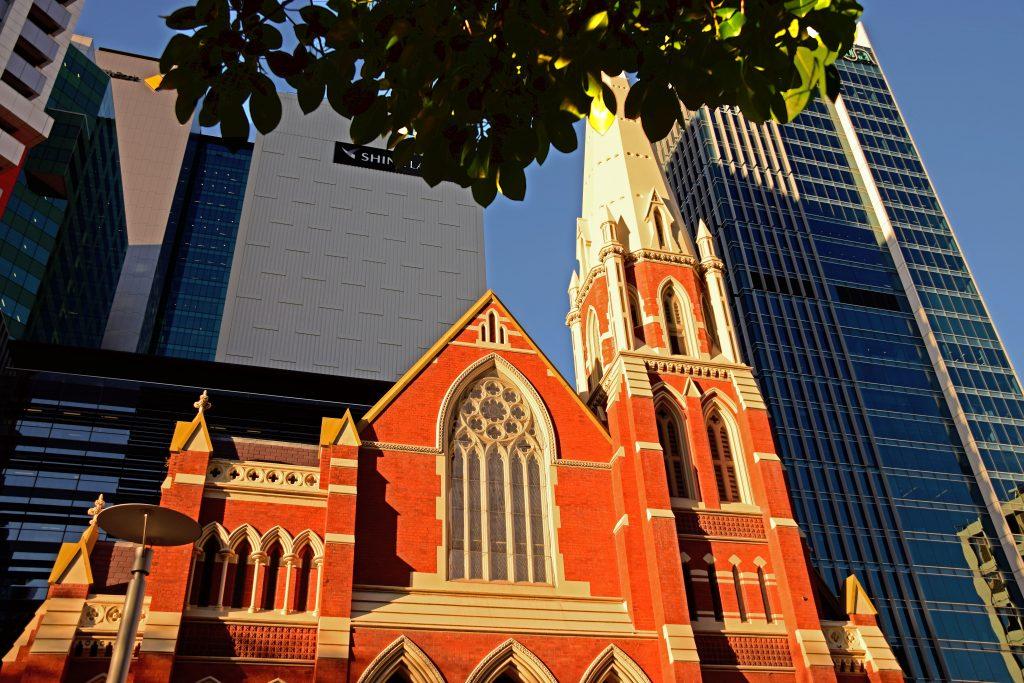Brisbane Albert Street Skyline e Uniting Church