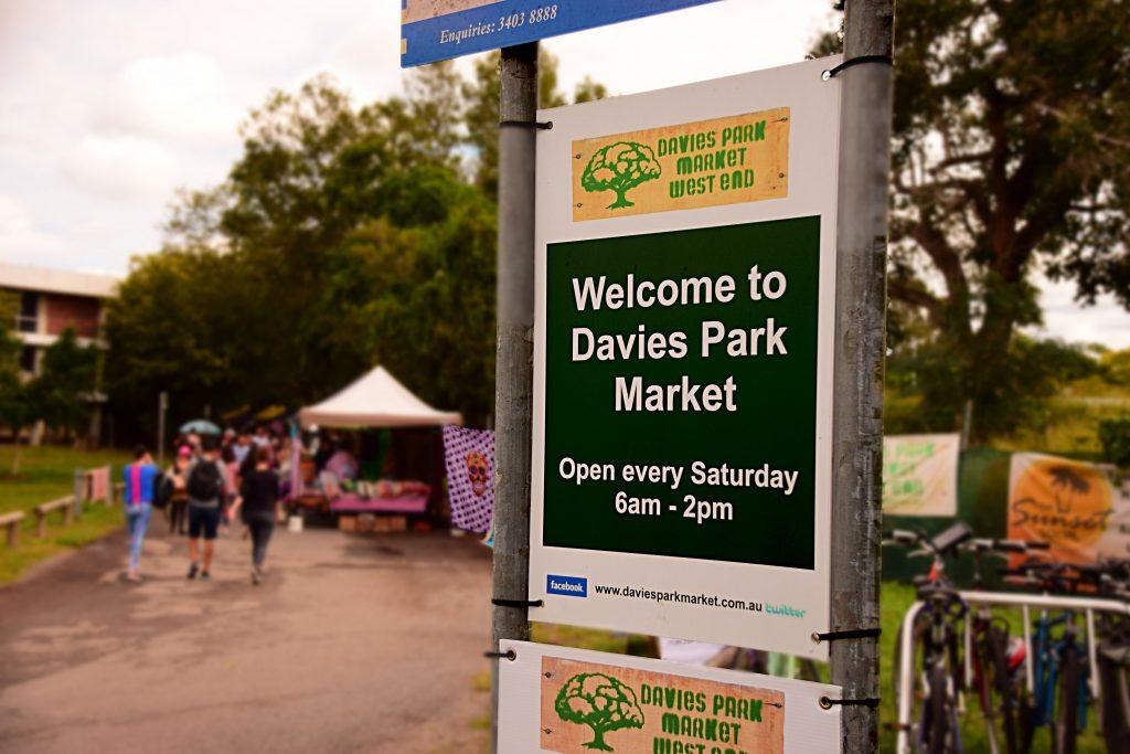 L'ingresso di Davies Park Market
