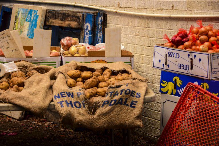 Davies Park Market banchetto della verdura