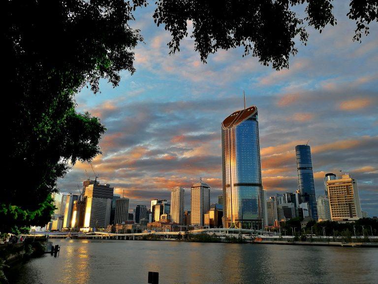 Tramonto da South Bank Brisbane